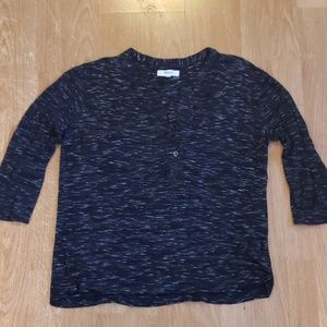 Madewell Black Speckled Top. Size Small